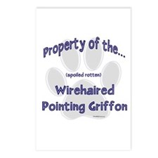 Wirehaired Griffon Property Postcards (Package of