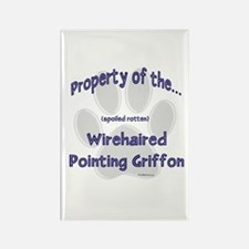 Wirehaired Griffon Property Rectangle Magnet