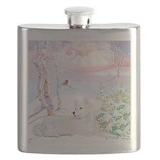 samoyed_winter_scene Flask