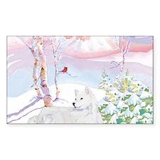 samoyed_winter_scene Decal
