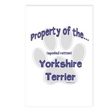 Yorkie Property Postcards (Package of 8)