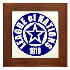 ART League of Nations 1919 Framed Tile