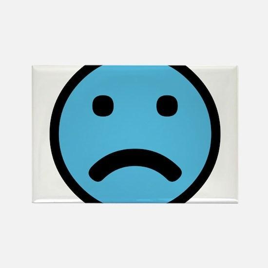 Sad Face Rectangle Magnet