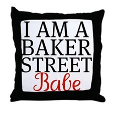 iamabakerstreetbabe Throw Pillow
