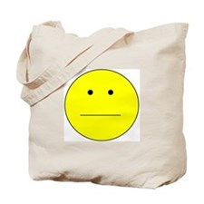 Straight Smiley Face Tote Bag