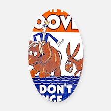 ART vote for hoover Oval Car Magnet