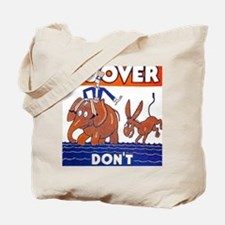ART vote for hoover Tote Bag
