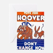 ART vote for hoover Greeting Card