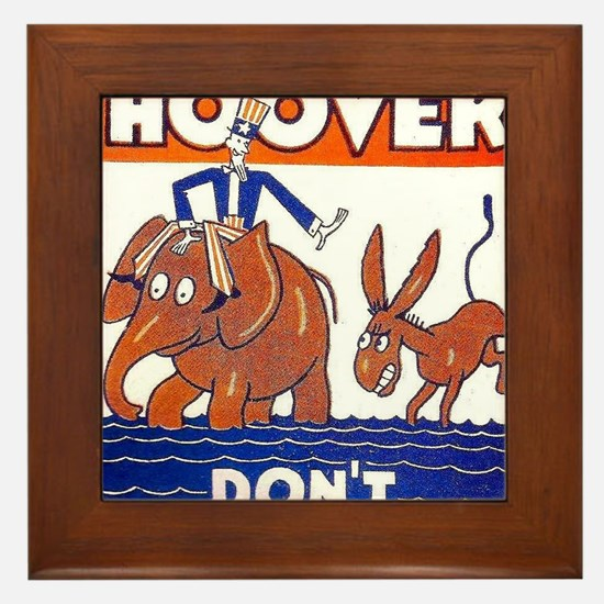 ART vote for hoover Framed Tile