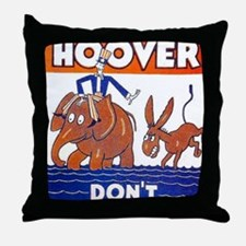 ART vote for hoover Throw Pillow