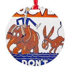 ART vote for hoover Ornament