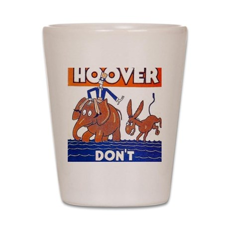 ART vote for hoover Shot Glass