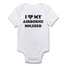 I heart love my Airborne Soldier Infant Bodysuit