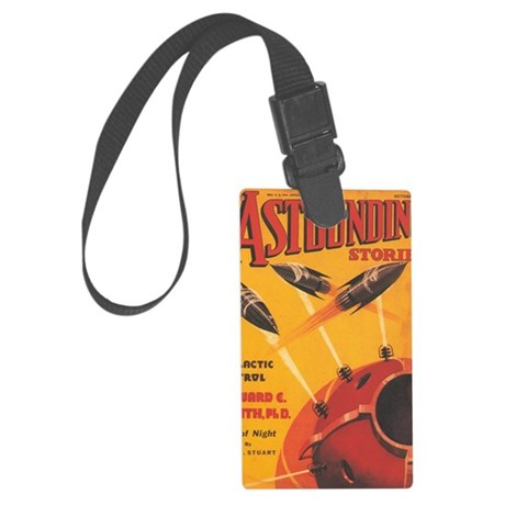 Astounding Stories Oct 1937 Large Luggage Tag