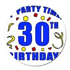 PartyTime30 Round Car Magnet