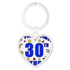 PartyTime30 Heart Keychain