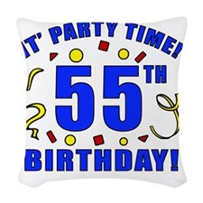 PartyTime55 Woven Throw Pillow