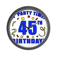 PartyTime45 Wall Clock