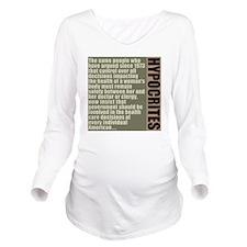 feb12_hypocrites_col Long Sleeve Maternity T-Shirt