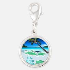 VIRGIN ISLANDS Silver Round Charm