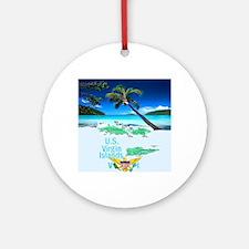VIRGIN ISLANDS Round Ornament