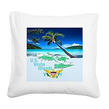 VIRGIN ISLANDS Square Canvas Pillow