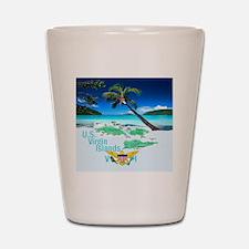VIRGIN ISLANDS Shot Glass
