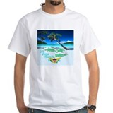 Caribbean Mens White T-shirts