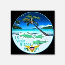 "VIRGIN ISLANDS Square Sticker 3"" x 3"""
