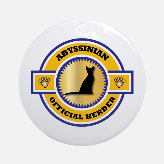Abyssinian Herder Ornament (Round)