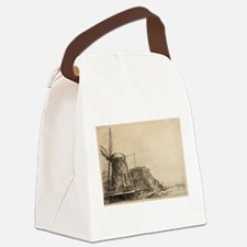 The Windmill - Rembrandt - c1641 Canvas Lunch Bag