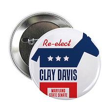 "reelectClayDavis_tshirt_light 2.25"" Button"