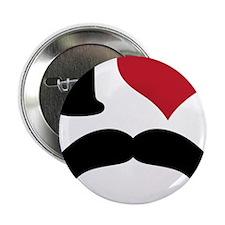 "I Heart Mustache 2.25"" Button"