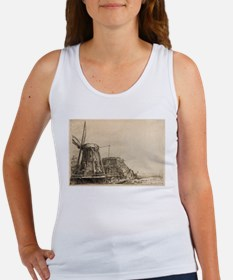 The Windmill - Rembrandt - c1641 Women's Tank Top
