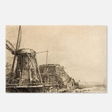 The Windmill - Rembrandt - c1641 Postcards (Packag