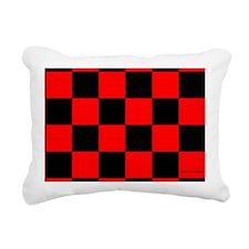 clutchbagredcheckerboard Rectangular Canvas Pillow