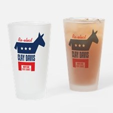 reelectClayDavis_coaster Drinking Glass
