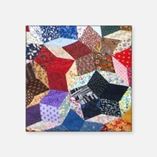 "Quilt One_puzzle_v Square Sticker 3"" x 3"""