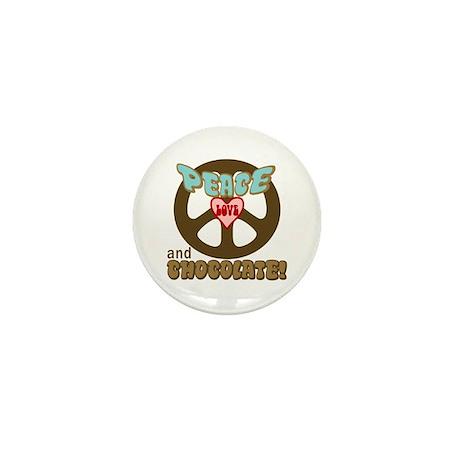 PEACE LOVE AND CHOCOLATE Mini Button
