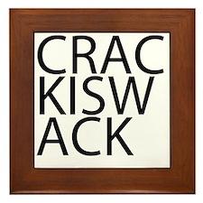 Crack is Wack Framed Tile