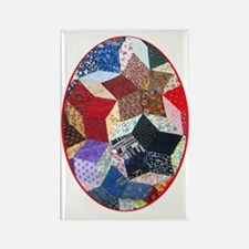 Quilt One ornament_oval Rectangle Magnet