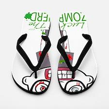 Zombie Nerdsaint patricks day png Flip Flops