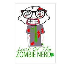 Zombie Nerdsaint patricks Postcards (Package of 8)
