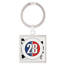 roundlogo28 Square Keychain