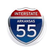 "Interstate 55 - Arkansas 3.5"" Button"