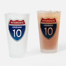 Interstate 10 - Louisiana Drinking Glass