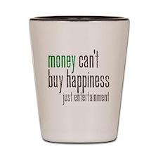 moneyhapp copy Shot Glass