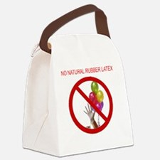 no latex 10x10 words Canvas Lunch Bag