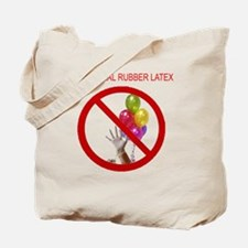 no latex 10x10 words Tote Bag