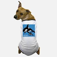 Killer Whale Pint Glass Dog T-Shirt